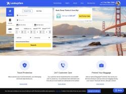 Lookupfare.com screenshot