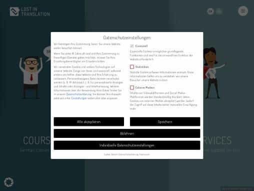 Lost in Translation ist Ihr zuverlässiger Partner,