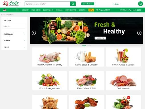 Buy fresh food online Malaysia online -Lulu hypermarket