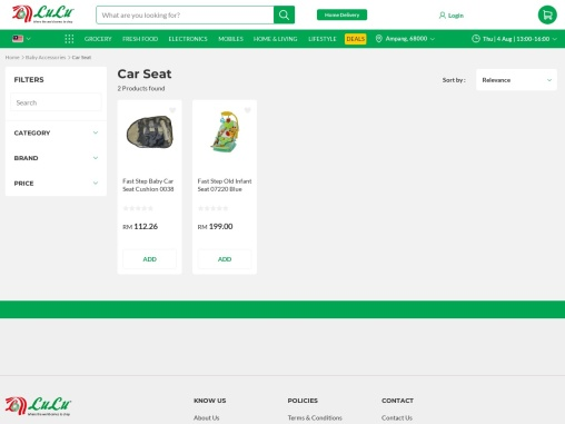 Baby car seats Malaysia online at a prominent rate