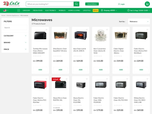 Faber oven online from our malaysian store