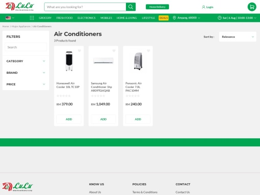 order best  air conditioner malaysia products