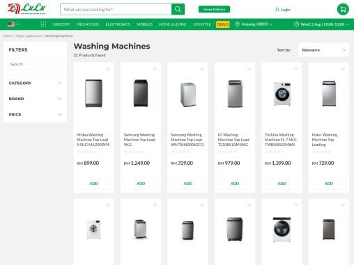 Buy your favorite washing machine online