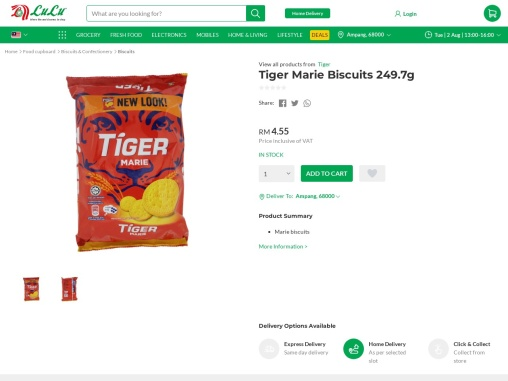 Find out best tiger biscuit online from supermarket in malaysia