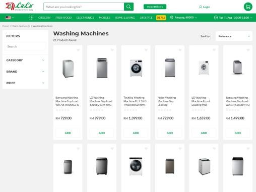Toshiba washing machine online