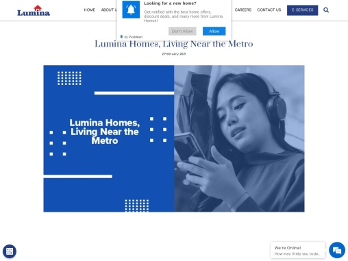 Lumina Homes, Living Near the Metro