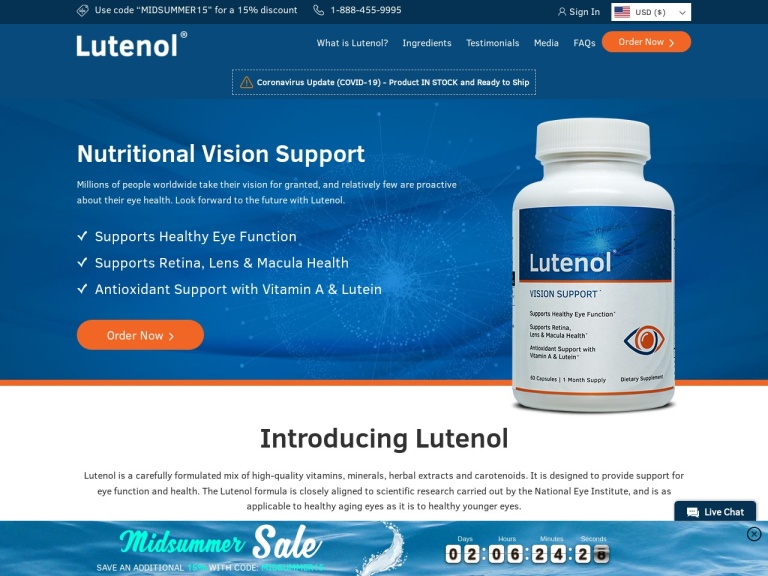 Lutenol screenshot