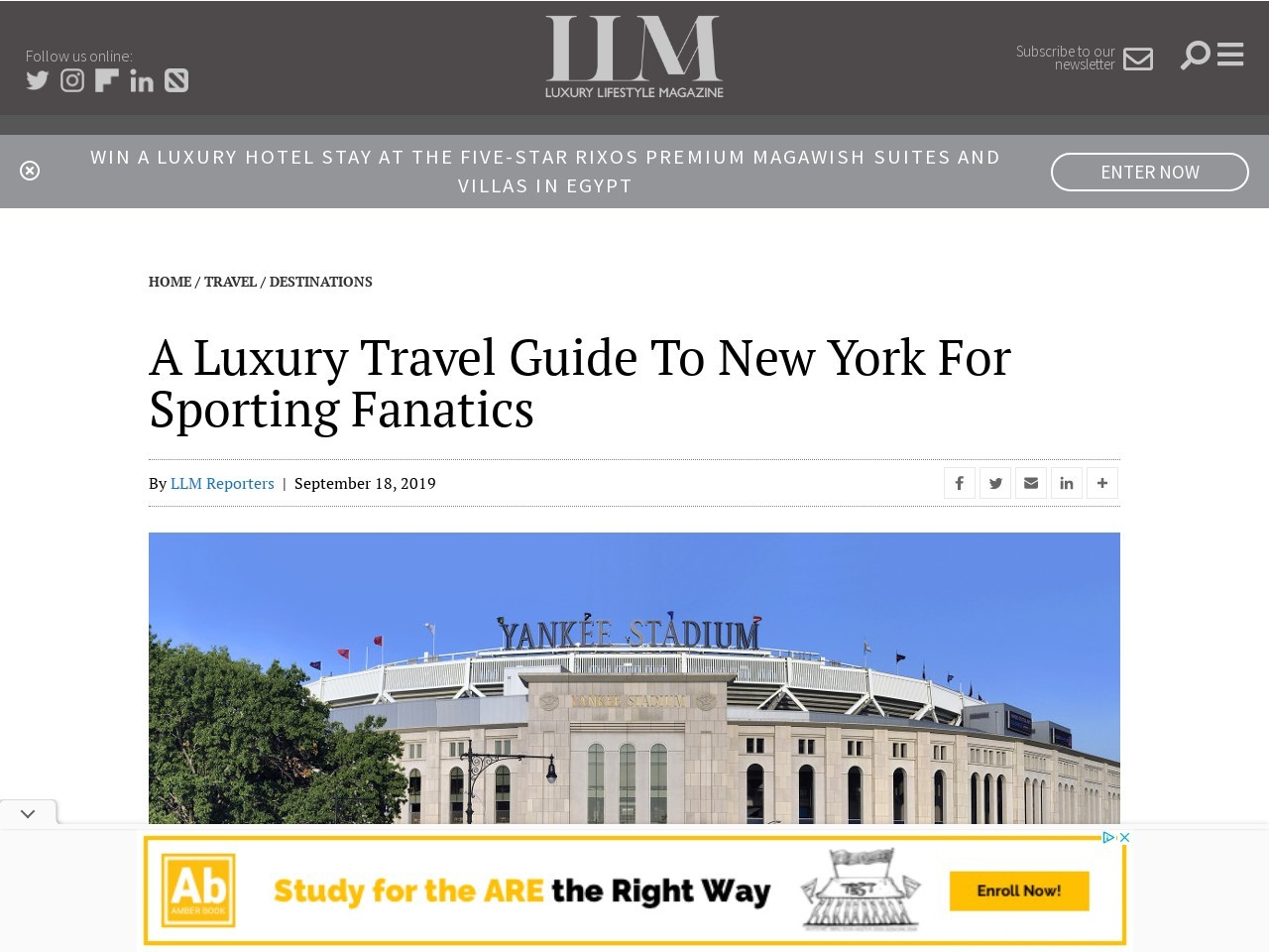 A luxury travel guide to New York for sporting fanatics