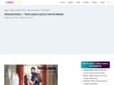 Afsana Khan Tere Laare Lyrics | Amrit Maan