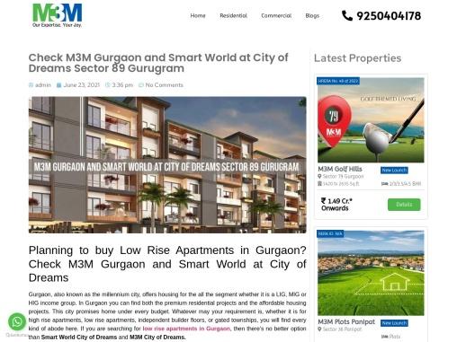 M3M Smart City of Dreams  M3M Gurgaon