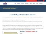 Servo Voltage Stabilizers Manufacturers