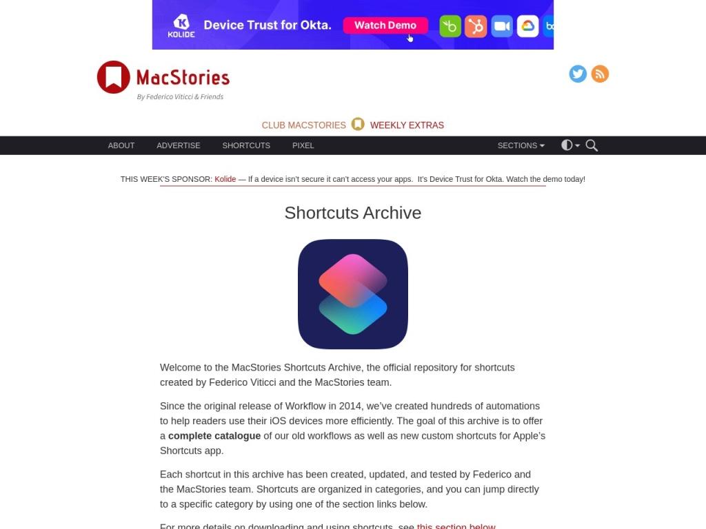 Shortcuts Archive –  MacStories