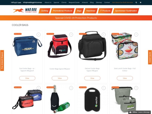 Personalised Cooler Bags and Shopping Cooler Bags in Australia – Mad Dog Promotions