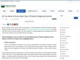 All You Need to Know about Type of Fashion Designing Courses
