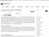 Classic Limousine Hire Tips For Weddings