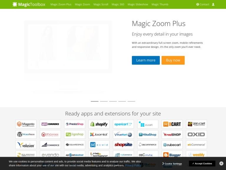 Magic Toolbox Coupon Codes screenshot
