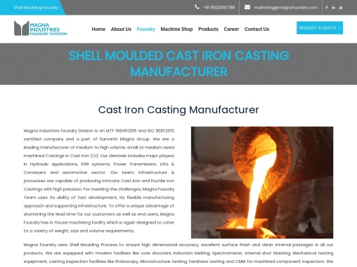 Cast Iron Manufacturers in India – Magnafoundry