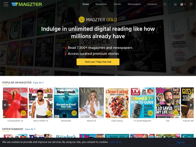 Magzter - Digital Magazine Newsstand Coupon Codes & Promo codes