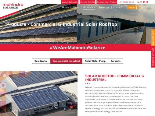 Commercial Solar Panels – Mahindra Solarize
