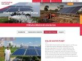 Solar Water Pump – Mahindra Solarize