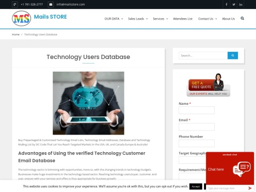 Technology Users Email Lists | Technology Users Mailing Lists | MailsSTORE