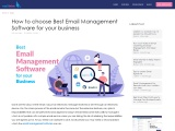 How to choose the best email management software for your business