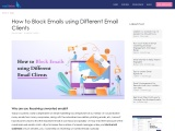 How to Block Emails using Different Email Clients