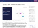How to Setup Mailtrim with Yahoo mail – Mailtrim