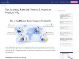 Tips to Lead Remote Teams & Improve Productivity