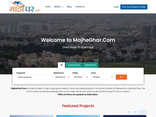 Post your property for free on Majheghar.com