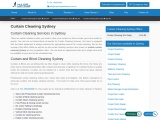 Curtain Cleaning Services Sydney