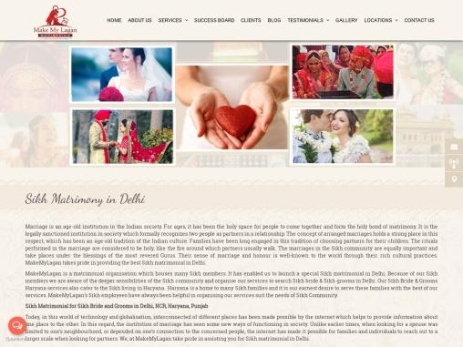 Sikh Matrimonial Services in Delhi