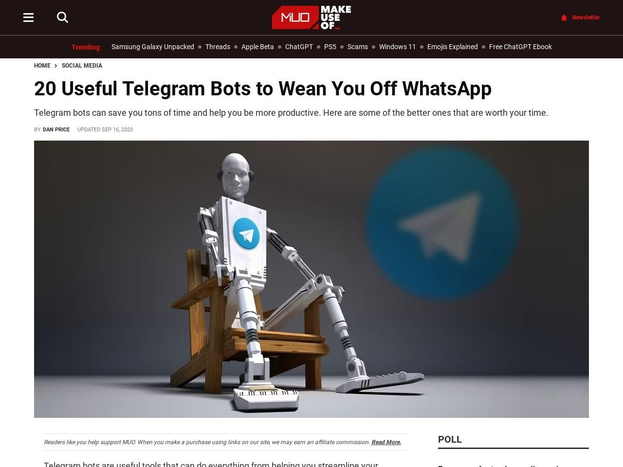 20 Useful Telegram Bots to Wean You Off WhatsApp