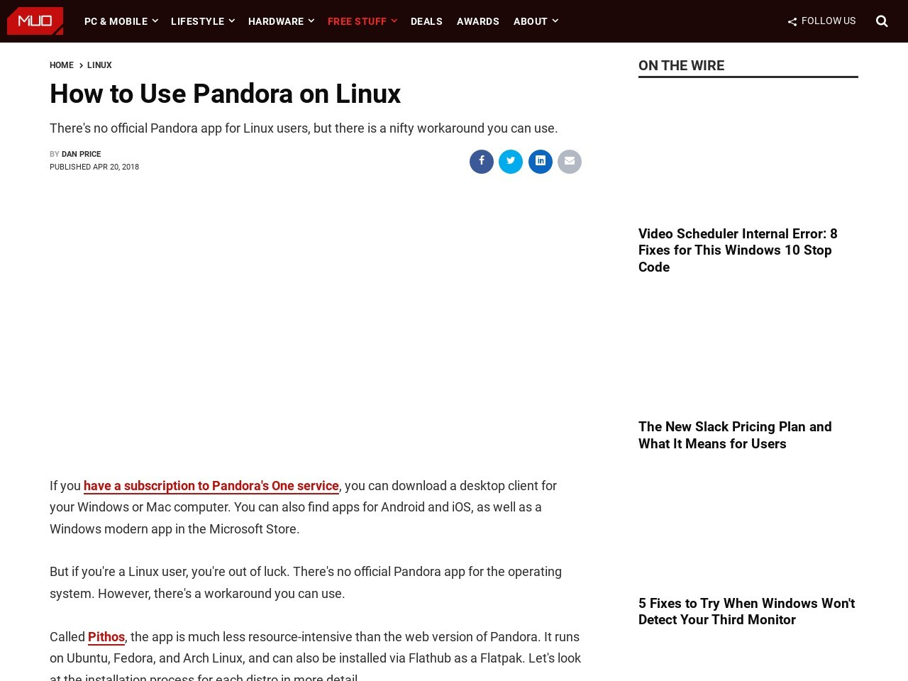 How to Use Pandora on Linux