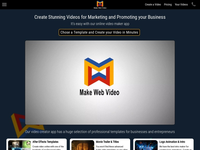 MakeWebVideo Pricing: Get Review of the Video Maker screenshot