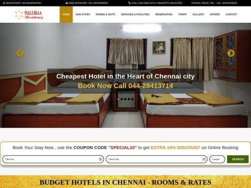 Mallika Residency – Budget Hotels in Chennai