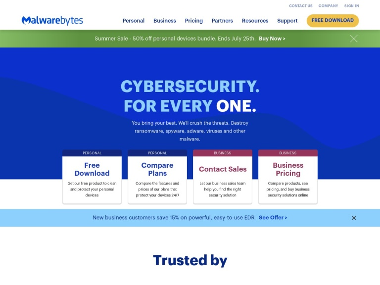 Malwarebytes indirim kuponu screenshot