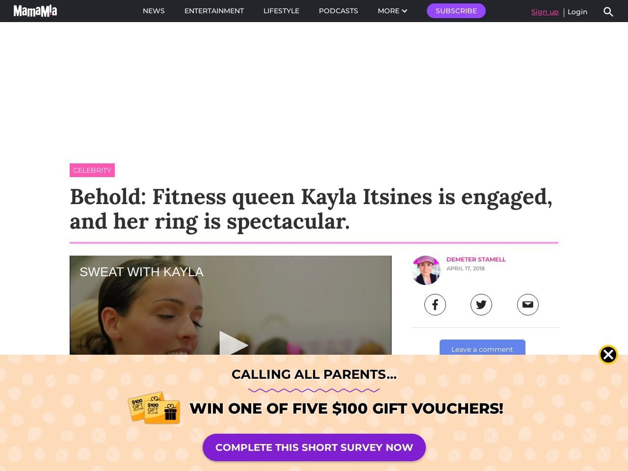 Behold: Fitness queen Kayla Itsines is engaged, and her…