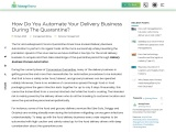 How Do You Automate Your Delivery Buisness
