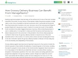 How Grocery Delivery Business Can Benefit From ManageTeamz?