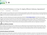 Why Proof Of Delivery Is A Key To Efficient Delivery Operations?