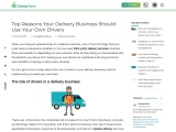 Top Reasons Your Delivery Business Should Use Your Own Drivers