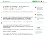 How Real-Time Visibility Is Transforming Traditional Logistics Practices?