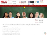 The Government Of Canada Announces New Policy To Help International Students!