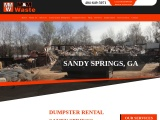 Dumpster rental in Sandy Springs