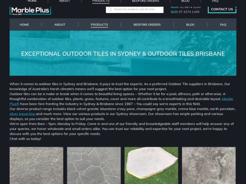 Outdoor Tiles Sydney – Marble Plus