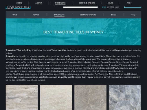 Travertine Tiles Sydney – Marble Plus