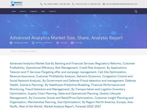 Advanced Analytics Market Size