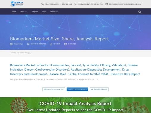 Biomarkers Market Share , Analysis