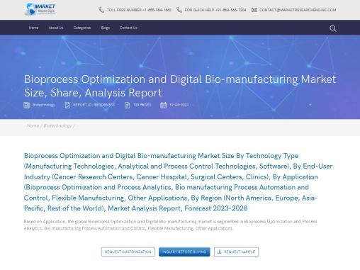 Bioprocess Optimization and Digital Bio-manufacturing Market